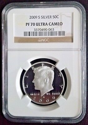 2009-S 50c SILVER Kennedy Half Dollar NGC PF70 Ultra Cameo