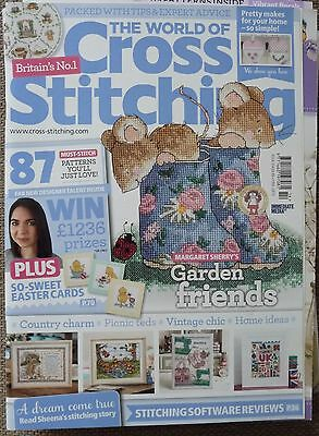The World of Cross Stitching Magazine No 214 + FREE GIFT in excellent condition
