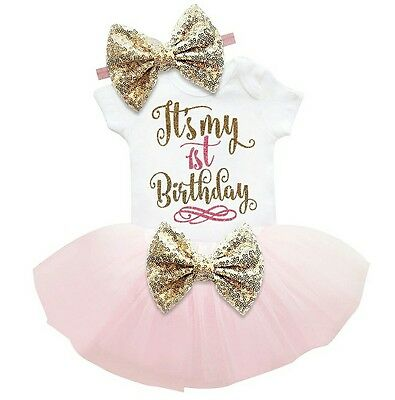 baby girl first 1st birthday outfit tutu headband cake smash photo shoot Prop uk