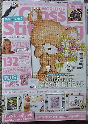 The World of Cross Stitching Magazine No 255 + free gifts excellent condition