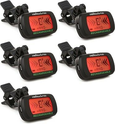 Intellitouch PT40c - Rechargeable Clip-on Tuner (5-pack) Value Bundle