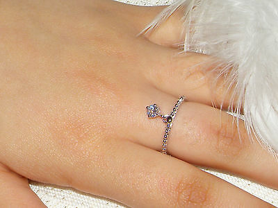 925 silver ring,dangle charm ring,Stack dainty chain link London stacking ring