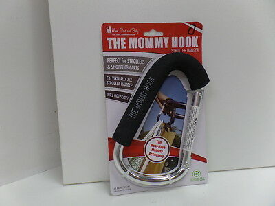New the One and Only The Mommy Hook & Baby Hook Stroller Assistant Black