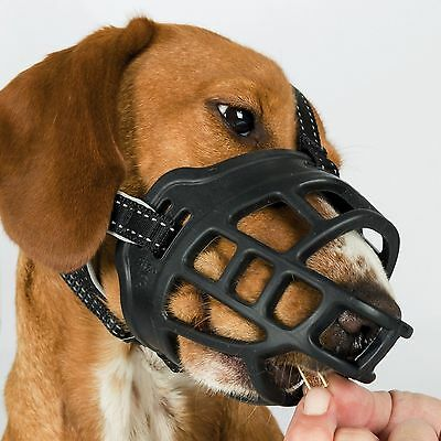 Trixie BLACK FLEX Silicone/Nylon/Neoprene Dog Muzzle - All Sizes Of Dog Muzzles