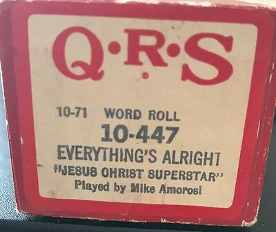 QRS  Player Piano Roll #10-447 - Everything 's Alright