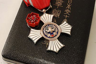 WW2 Japanese Red Cross Society Order Merit Military Silver Medal  Decoration box