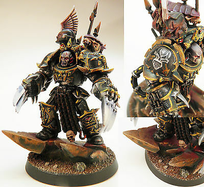 Chaos Space Marines: painted Terminator Lord (Iron Warriors)