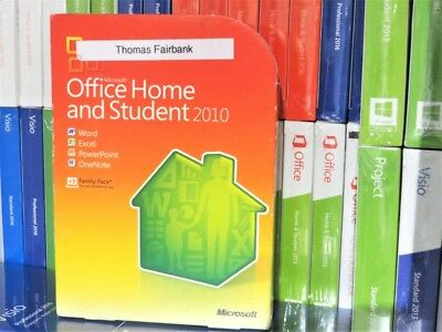 Microsoft Office 2010 Home & Student 3-User DVD 79G-01900 Word Excel Powerpoint