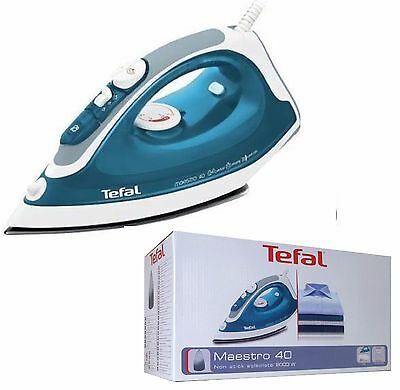 Tefal Maestro 40 FV3740M0 Non-Stick Soleplate 2000W Steam Iron In Blue NEW