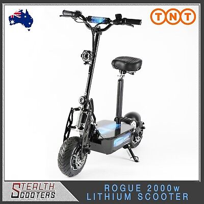 New Stealth Rogue 2000w 60v 20Ah LITHIUM Electric Scooter 1600w 1000w Kids/Adult