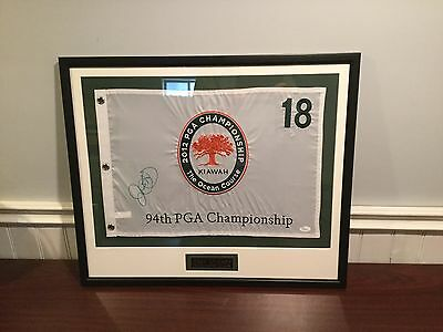 Rory Mcilroy Autographed Flag (JSA Authentications)