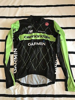 Team Issue Cannondale Garmin Team Jersey Summer Castelli Size MED long sleeve