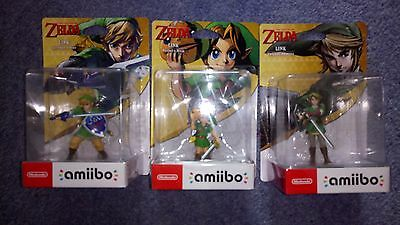 Zelda Amiibo bundle twilight princess, Skyward Sword, Majoras Mask