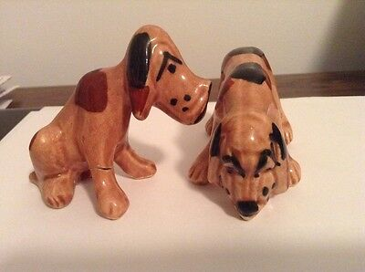 Vintage Ceramic Grindley Pottery Bloodhound Pair