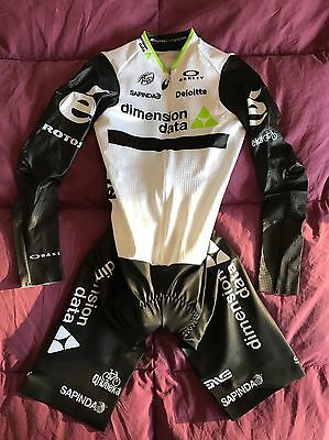 Dimension Data Team Issue Cycling Time Trial Skinsuit FARRAR Oakley Suit MED