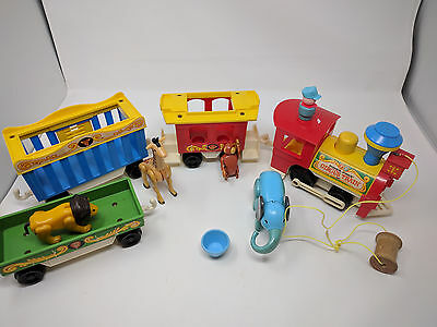 Fisher Price Little People Play Family Circus Train Vintage #991 Set Monkey