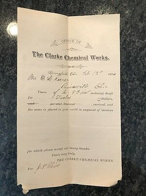 1800's Clarke Chemical Works Springfield Oh Embalming Fluid Manufacturers Coffin