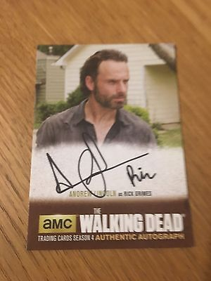 The Walking Dead Season 4 Pt 1 Andrew Lincoln Autograph Card