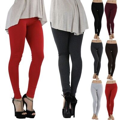 Women's Essential Skinny Fit Yoga Stretch Full Length Cotton Leggings