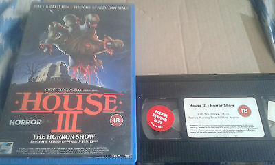 House III   -  RARE 1989 ORIGINAL VHS VIDEO - FAT BOX - HORROR -