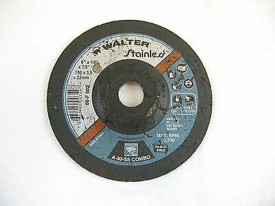 """Grinder Disc Walter Stainless 6""""x 1/8""""x 7/8"""""""