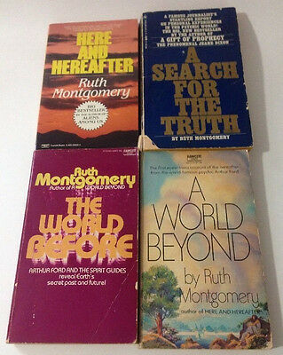 Vintage Ruth Montgomery Paperback Books Lot of 4 The World Before A World Beyond
