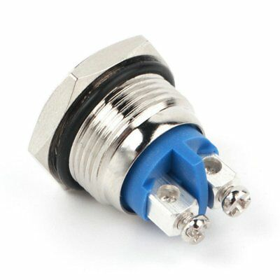 250V 3A 16MM Non latching Stainless Steel Metal Push Button Switch Nomal Open