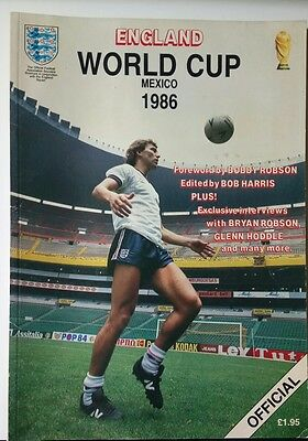 ENGLAND WORLD CUP MEXICO 1986 MAGAZINE/OFFICIAL/edited by BOB HARRIS