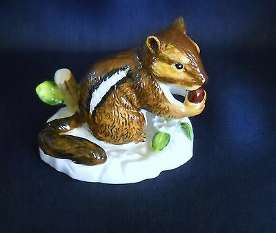 Shafford Fine Bone China Seated Squirrel With Nut - Hand Decorated
