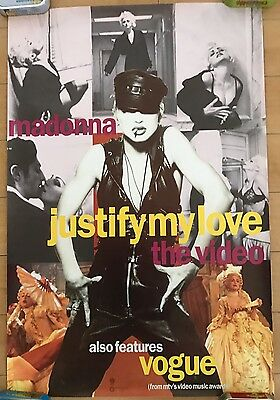 Madonna Promo Poster Justify My Love The Video Rare Official Record Shop Display