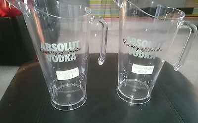 X2 Absolut Vodka Cocktail Pitcher Jugs Brand New Home Pub/bar/mancave/party