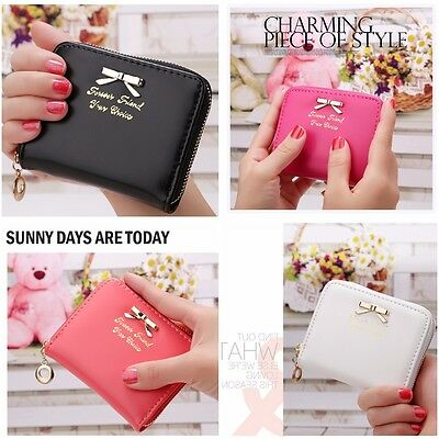 Fashion Women Girls Leather Wallet Card Holder Coin Purse Clutch Handbag Small