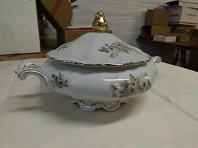 "Mitterteich ""Charming Barbara"" Round Covered Serving Bowl with Handles EUC"