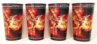 Hunger Games: Mocking Jay Part 2 theater Exclusive Four 44 oz Plastic Cups