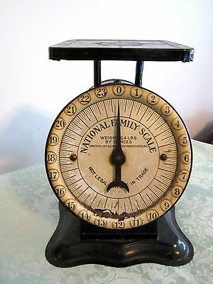 Antique 1910's National Family Scale-Columbia Tea Co. Syracuse,ny- 24Lb By Oz.