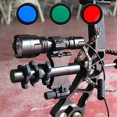 Tactical 1200LM Archery Compound Bow Stabilizer Damper Flashlight Red Dot laser