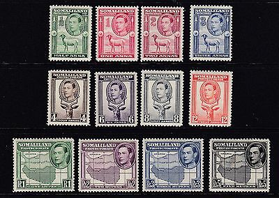 Somaliland Protectorate, 1938 Set Sg93 To 104, Mm/mh