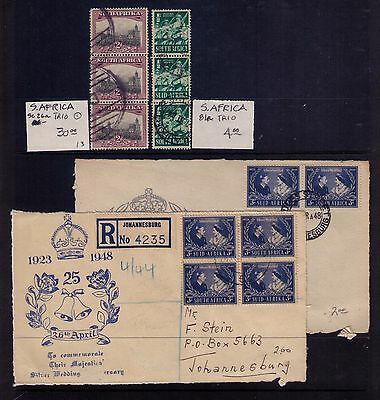 South Africa x2 covers & SC#26a and 81a Trio used strips