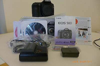 Canon EOS 50D 15.1MP Digital SLR Camera - Black (Body Only) shutter count  34253