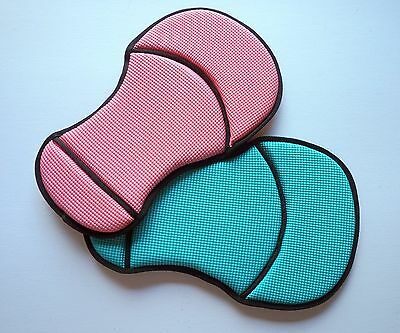 Showman Neoprene Sure-Grip Western Seat Saver Black Pink Teal