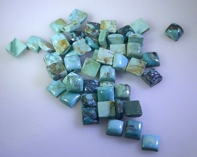 seemly Turquoise cabochon Square 5x5 mm Loose Gemstones STTURCBSQ5x5