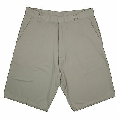 Genuine Boys Flat Front Twill Shorts School Uniform Khaki - New - Sizes 4 - 16