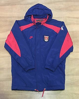 Arsenal FC - Size XL - Classic Vintage 90's Nike Hooded Padded Jacket