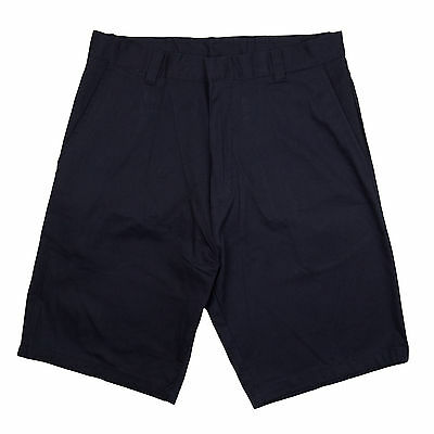 Genuine Boys Flat Front Twill Shorts School Uniform Navy - New - Sizes 4 - 16