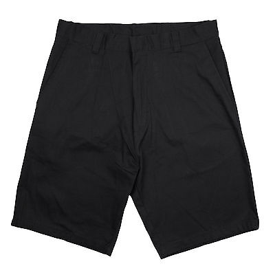Genuine Boys Flat Front Twill Shorts School Uniform Black - New - Sizes 4 - 16