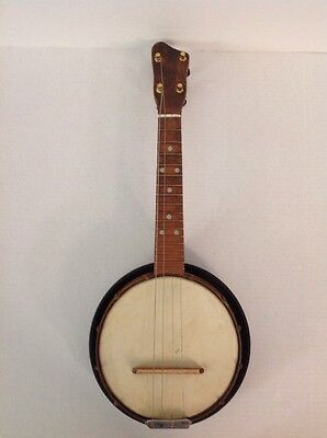 "Vintage Antique? ""Pat. Appld For"" Banjolele Copper Body 1920s Musical Instrument"