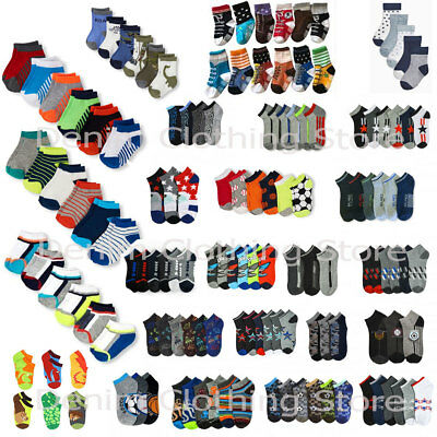 1~20 dozen Infant Toddler Boy Children Mixed Colors Ankle Socks Wholesale Lots