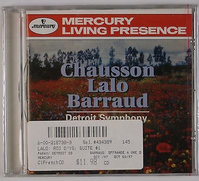 CHAUSSON LALO BARRAUD: Detroit Symphony, Paray SEALED Mercury Living Presence CD