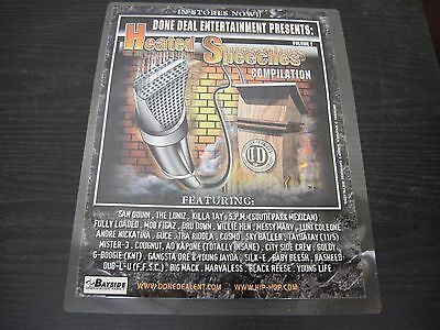 "HEATED SPEECHES COMPILATION - SPM, Goldy promotional Adverstisement 9"" X 12"""