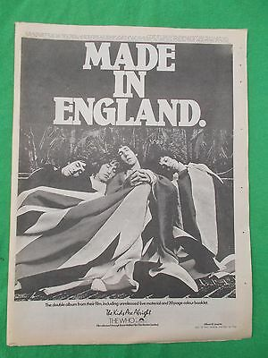 1979 The Who- Made In England A3 Advert Melody Maker